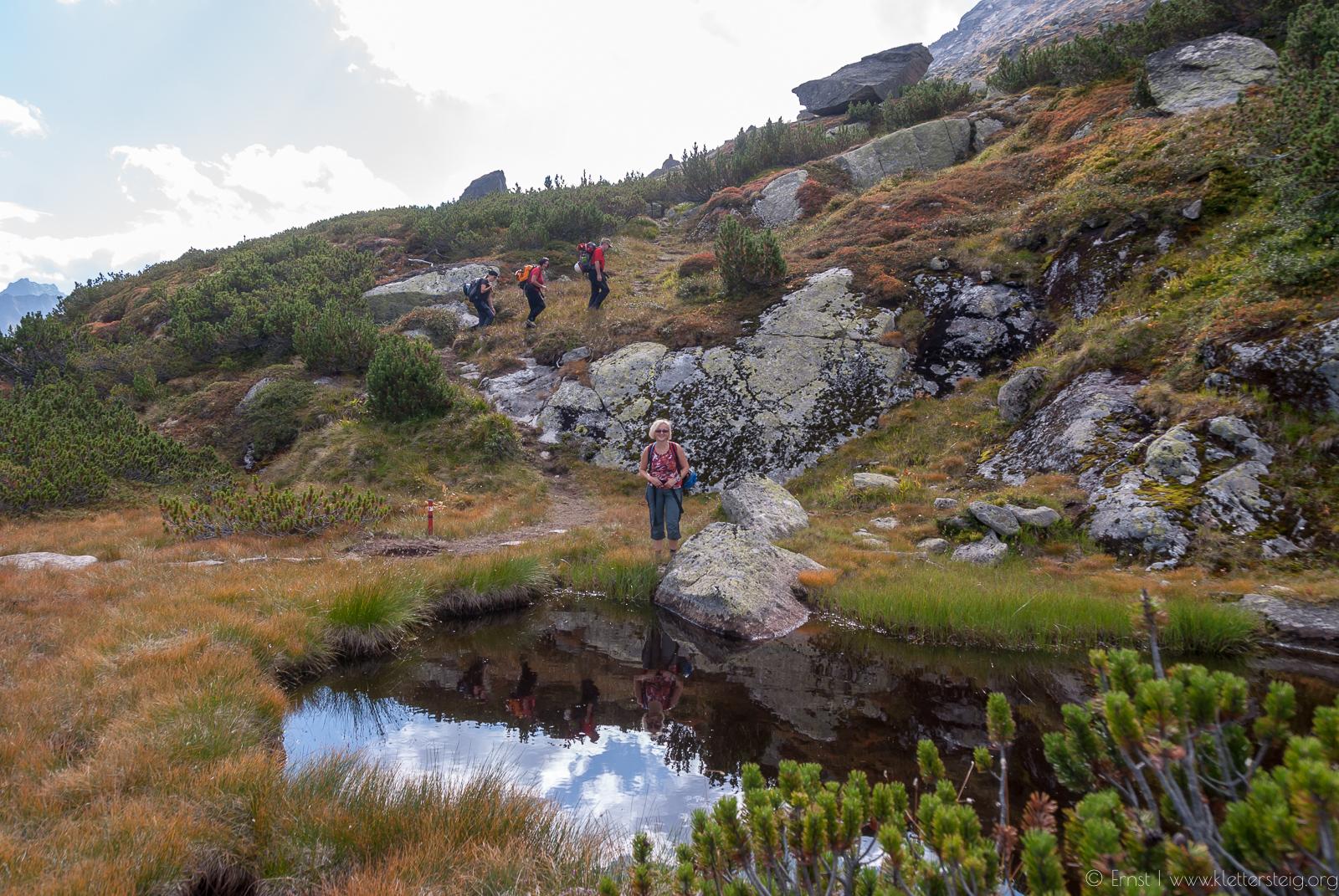 Silvapark Klettersteig Zustieg