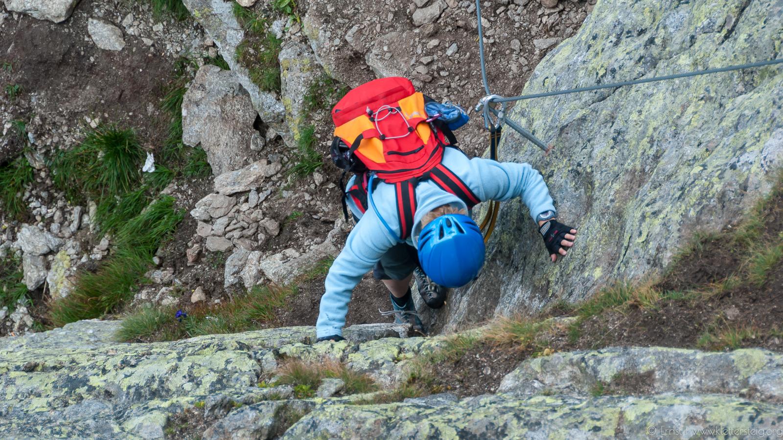 Silvapark Klettersteig Einstiegsbereich