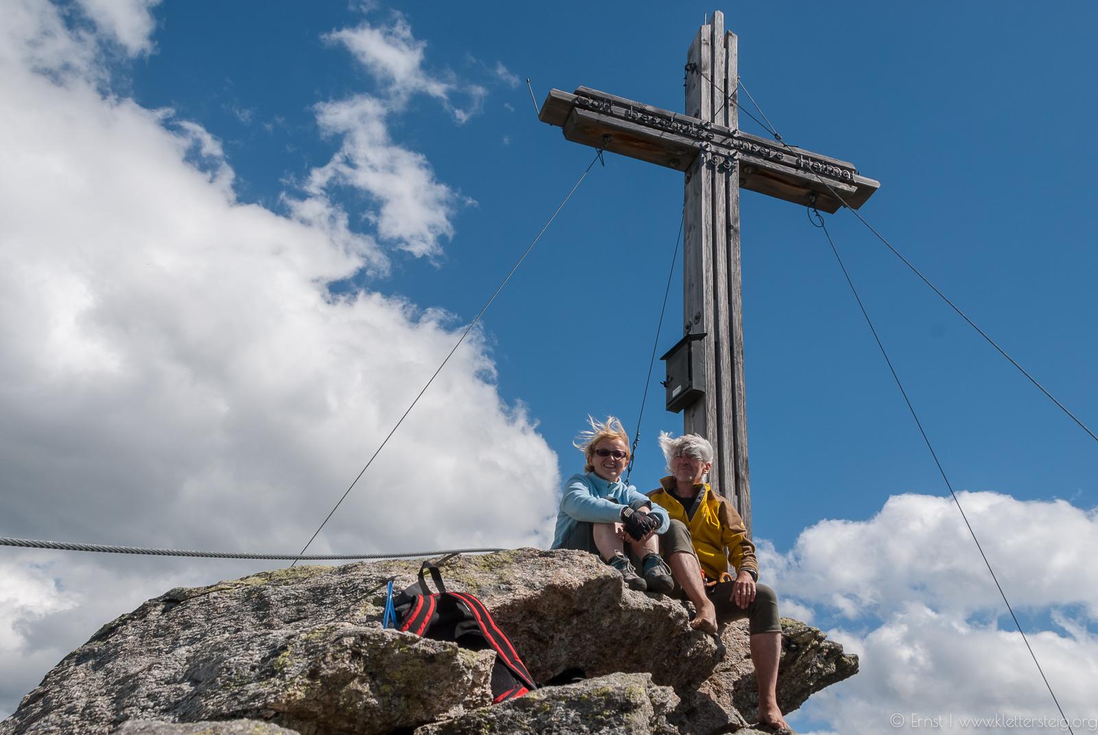 Silvapark Klettersteig am Gipfel der Balunspitze