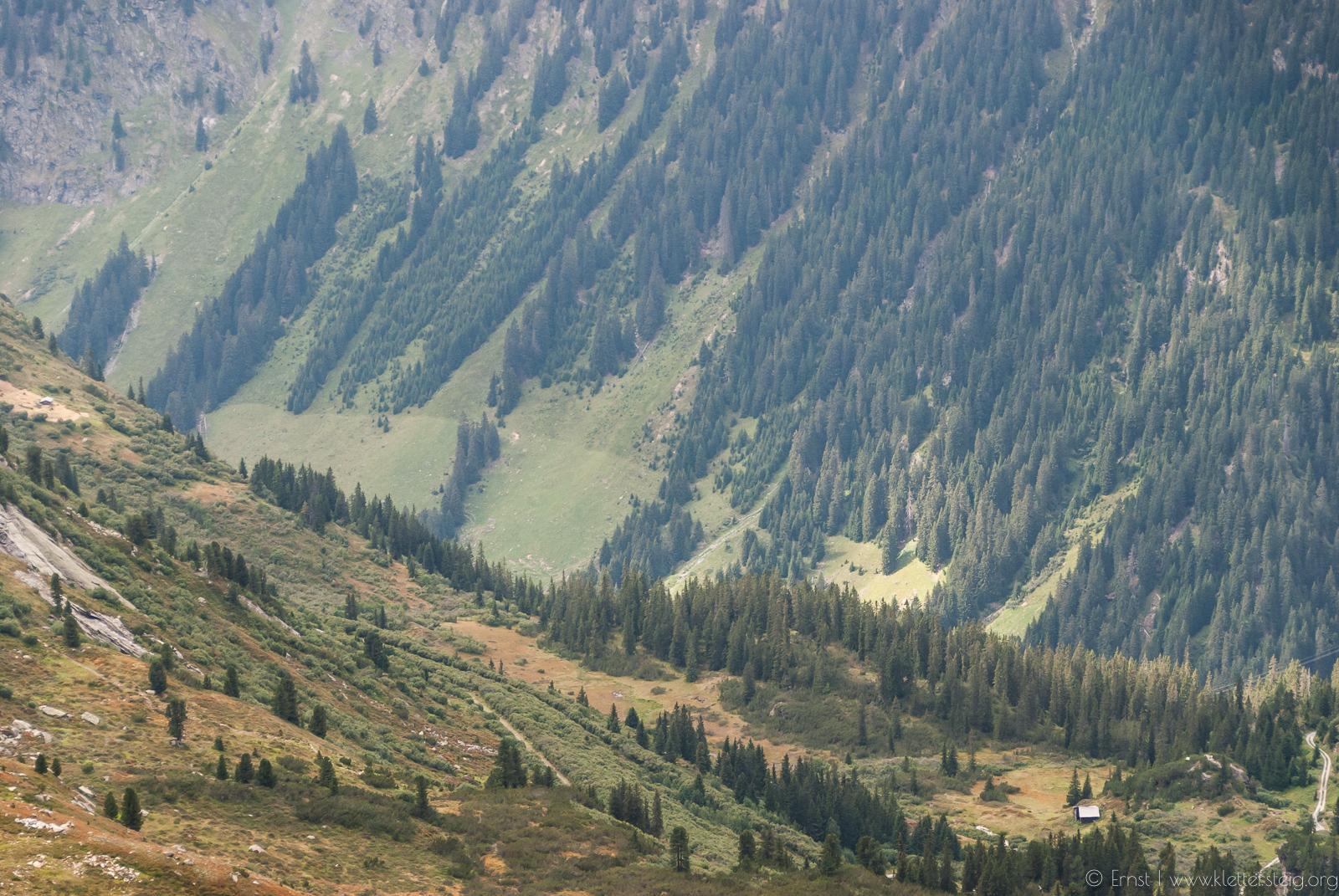 Silvapark Klettersteig Abstieg